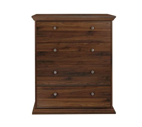 Walnut Effect Chest Of Drawers by Buy Home Canterbury 4 Drawer Wide Chest Of Drawers Walnut