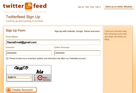 cara membuat twitter feed cara integrasikan web ke sosmed tutorial dan informasi