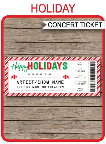fake concert ticket printable template surprise