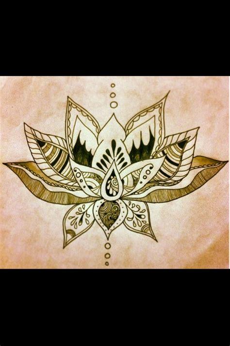 my next back lotus flower design i