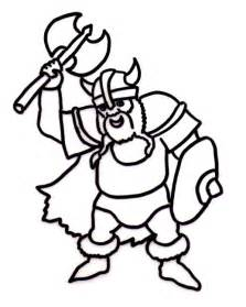 free coloring pages of viking