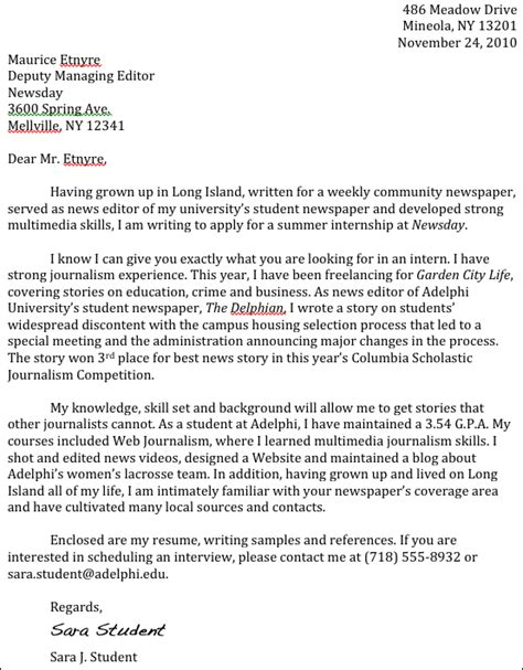 journalism cover letter journalism advice how to write a cover letter