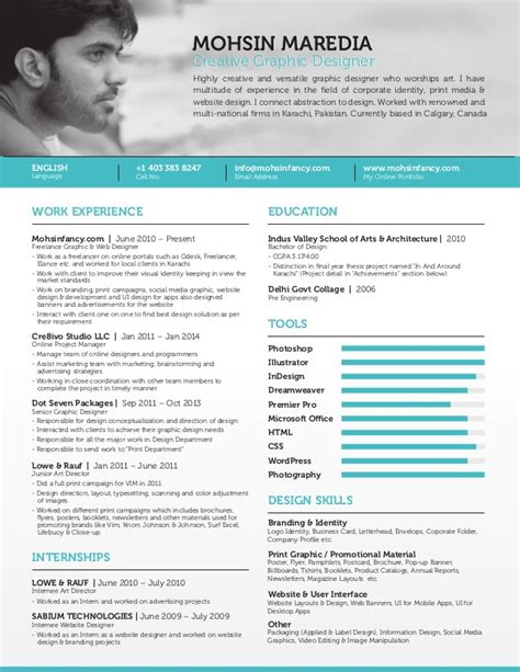 Resume Format Doc For Web Designer Freelance Graphic Web Designer Resume Calgary Canada Mohsin Mared