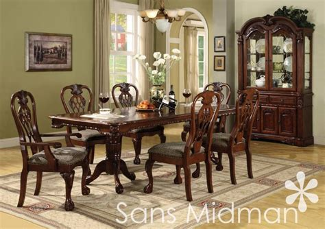 8 pc dining room set new 8 pc formal dining room set brunswick table w 6