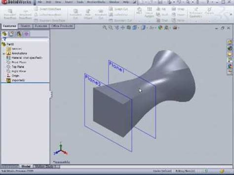 solidworks tutorial top down design solidworks 2009 tutorial featureworks surface design youtube