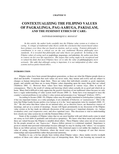 filipino thesis about social media contextualizing the filipino values