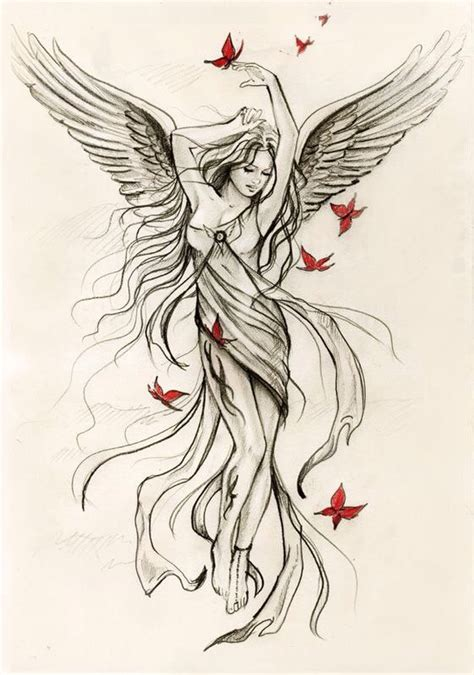 tattoo placement software maybe with phoenix wings rising from her ashes looking