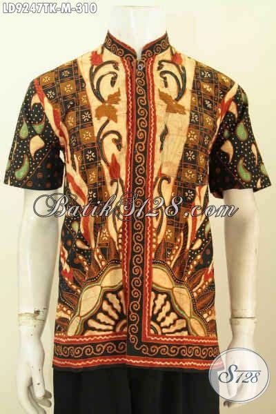 Hem Batik Shanghai batik hem istimewa lengan pendek model kerah shanghai