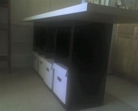 ikea hackers kitchen island kitchen island from bookcase and table top ikea hackers