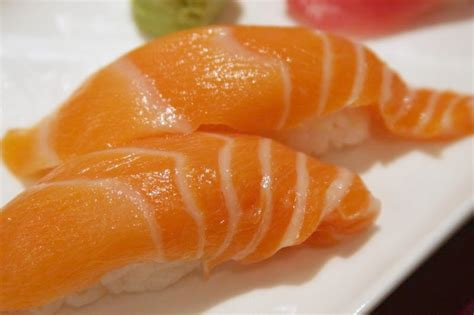 Salmon Sushi file salmon nigiri sushi 2008 jpg wikimedia commons