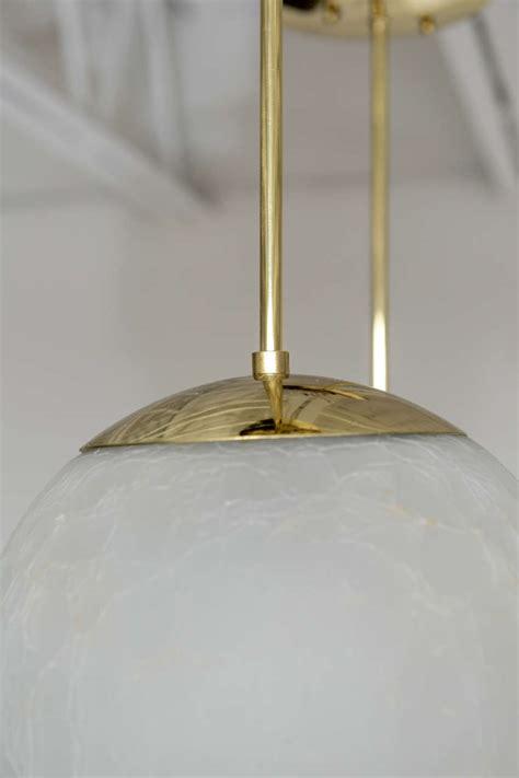 Pair Of Mid Century Crackle Glass Pendant Lights At 1stdibs Crackle Glass Pendant Light