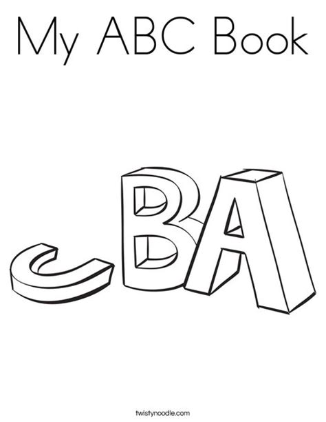 alphabet a b c coloring book books my abc book coloring page twisty noodle
