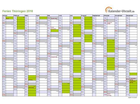 ferien thueringen  ferienkalender zum ausdrucken