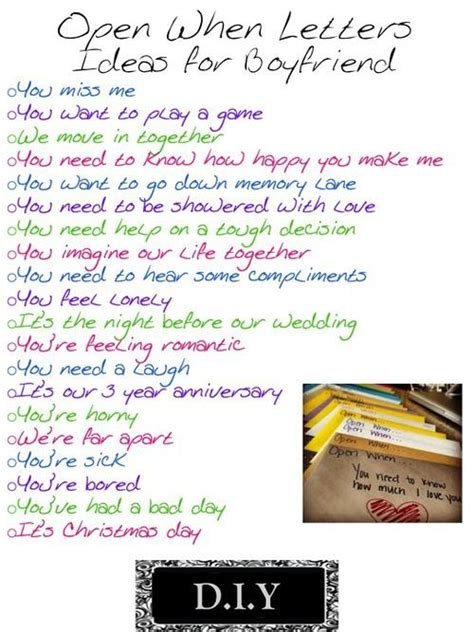 up letter ideas quot open when quot letters i really want to do this for aaron