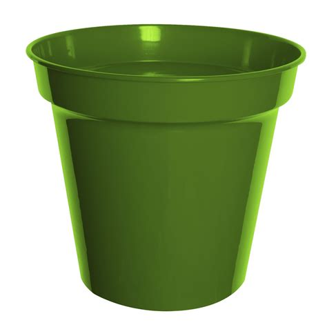 Plant Pots by Wilko Plastic Plant Pot Olive 20cm At Wilko