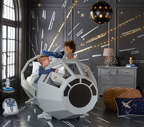 millennium falcon bed i want it pottery barn s 4 000 millennium falcon bed
