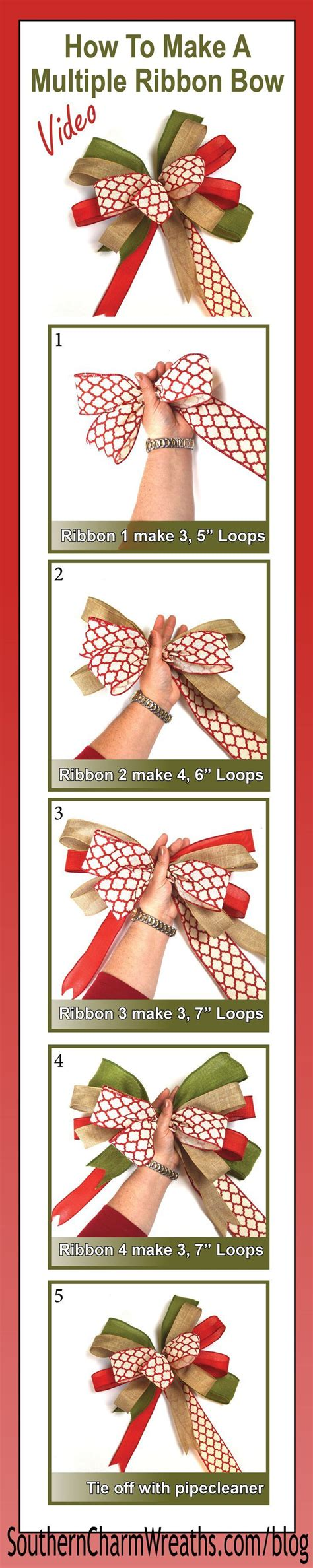 how to make a bow with multiple ribbons make a bow bows