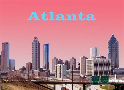 atlanta skyline photograph by michael chatman