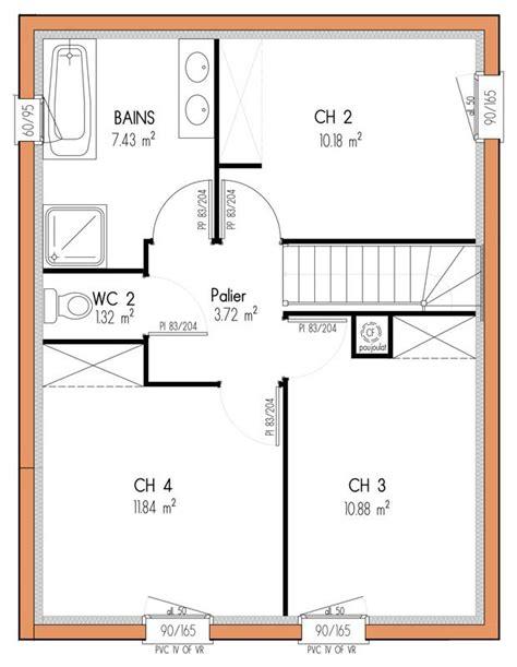 Plan Maison étage 4 Chambres 4289 by 1000 Id 233 Es Sur Le Th 232 Me Plans 201 Tage Chambre Sur
