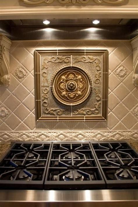 kitchen backsplash metal medallions wonderful sonoma medallion custom ordered from fiorano tile showrooms traditional