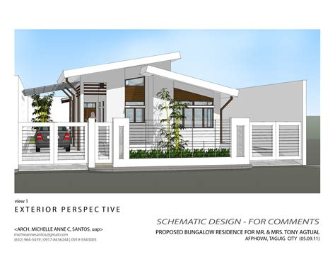 modern bungalow house plans modern bungalow house design with floor plan terrific