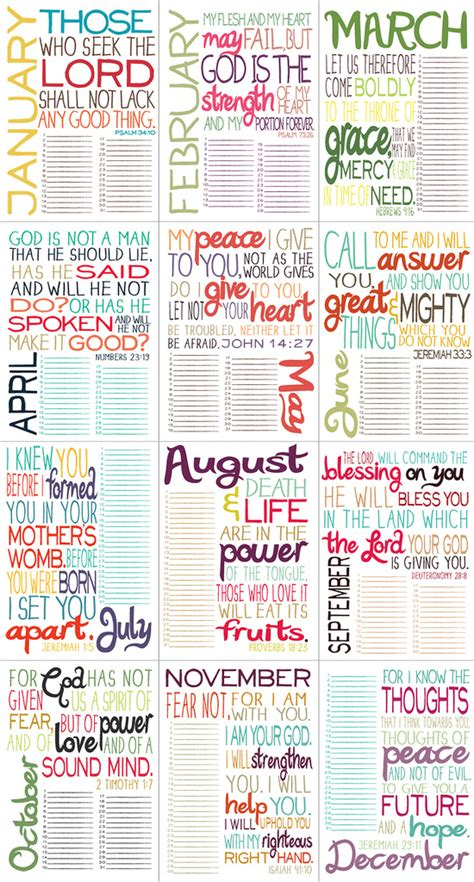 printable daily devotional calendar printable bible verse by month love this print out