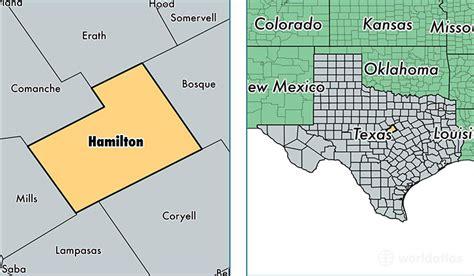hamilton texas map hamilton county texas map of hamilton county tx where is hamilton county