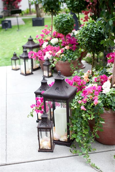 Lanterns Decorated With Flowers by Redecorating Ideas To Enjoy Your Patio In The Fall
