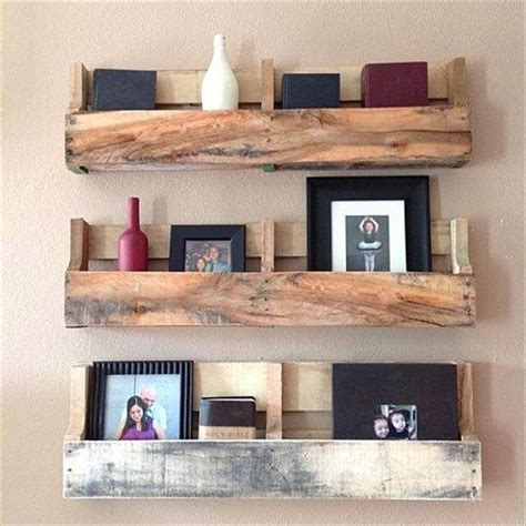 pallet shelves diy pallet furniture ideas bedroom wall