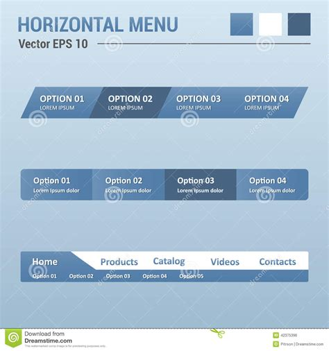 horizontal layout web design royalty free stock image horizontal menu image 42375396
