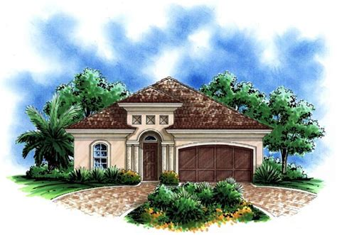 Small Mediterranean House Plans by House Plan 60495 Familyhomeplans