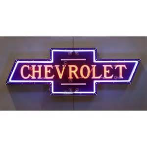 bowtie chevrolet dealer neon sign chevymall