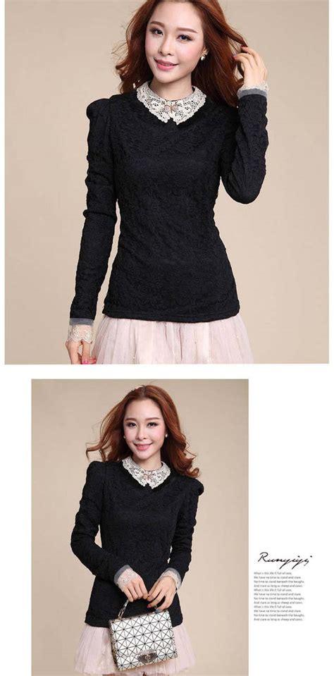 Baju Atasan Wanita Murah Atasan Korea Import Baju K Murah baju atasan wanita brokat cantik import model terbaru jual murah import kerja