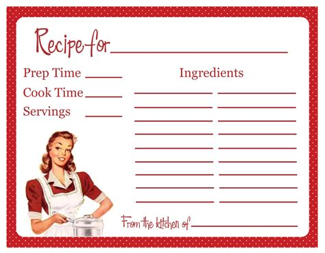Free Retro Recipe Card Templates by New Title Should Be Something Loving Happy