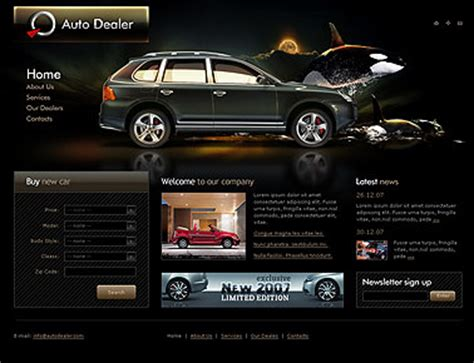 Auto Dealer Html Website Template Best Website Templates Auto Dealer Website Template
