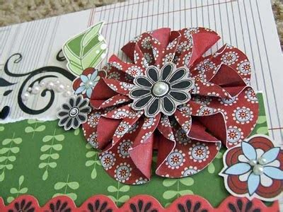 tutorial paper flowers scrapbooking chasing paper dreams folded paper flower tutorial