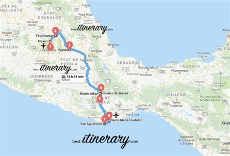 visiter le mexique en  semaines  itinerary