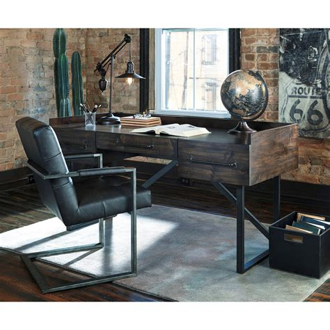 rustic home office desk modern rustic industrial home office desk with steel base