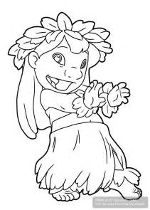 coloring images lilo and stitch hula coloring pages printable coloring