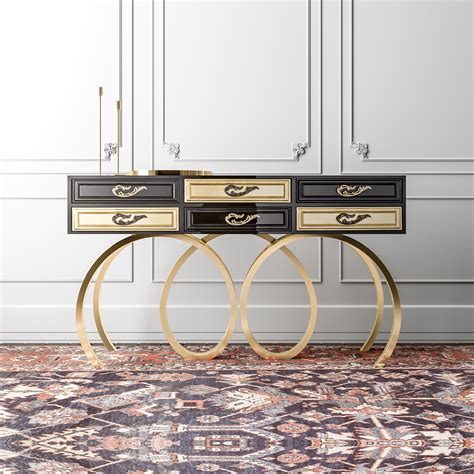 black and gold desk contemporary black and gold console table juliettes