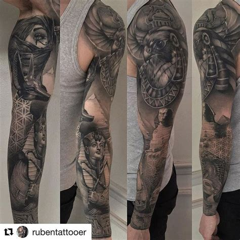 egyptian sleeve tattoos 25 best ideas about sleeve on