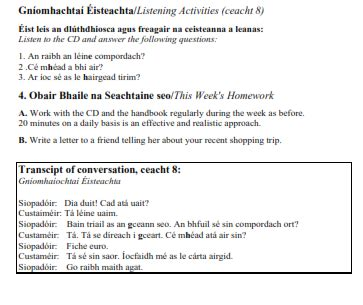 lesson plan template gaeilge siopad 243 ireacht junior to first class fearas scoile