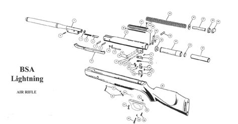 air rifle parts diagram bsa lightning bagnall and kirkwood airgun spares