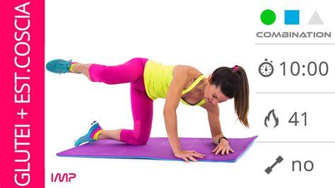 esercizi per interno ed esterno coscia esercizi glutei ed esterno coscia a casa sul tappetino