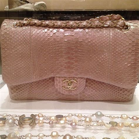 Chanel Richie And Chanel Python Tote by Chanel Pink Python Bag Luxury Chanel Pink