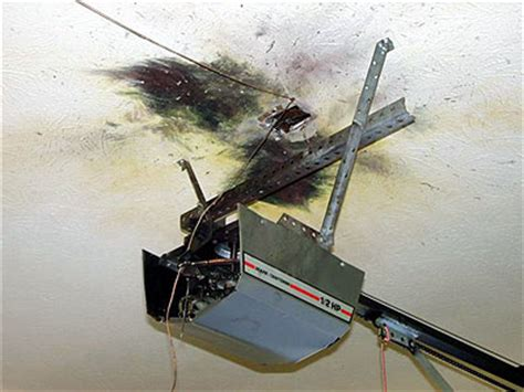 Lightning Damage Photos Garage Door Opener Broken