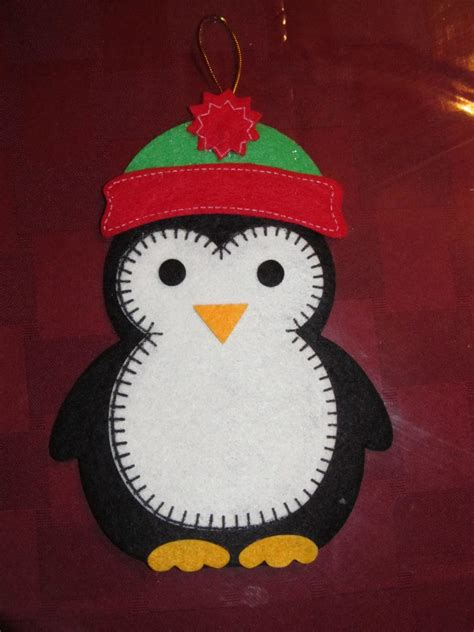 penguin felt ornament christmas pinterest penguins