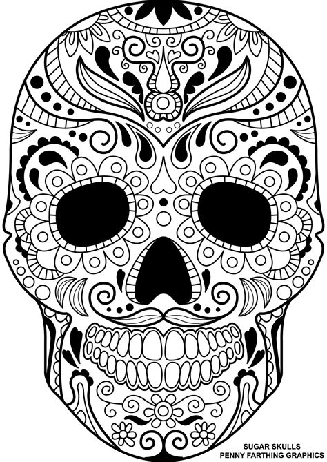 skeleton day of the dead coloring pages skull from sugar skulls day of the dead coloring page