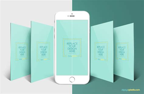Iphone Perspective Mockup App Screen Mockups Zippypixels App Mockup Template