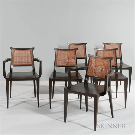Asian Style Dining Chairs Six Edward Wormley For Dunbar Asian Style Dining Chairs Sale Number 3057m Lot Number 168